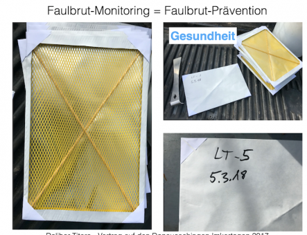 Faulbrut-Diagnosewindeln, eine neue Möglichkeit der Prävention