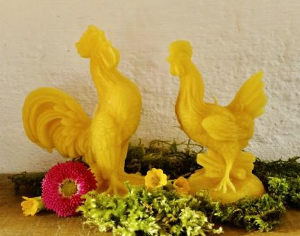 Kerzen-Set: Unsere Deich-Hühner